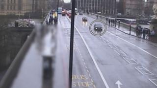 CCTV footage of the vehicle used in the Westminster attack