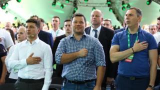 Володимир Зеленський був на з'їзді у супроводі голови своєї адміністрації Андрія Богдана та помічника Сергія Шефіра