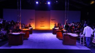 Indian designer Rimzim Dadu's show