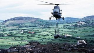 Helicopter in south Armagh