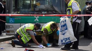 Scene of stabbing in Jerusalem (08/10/15)