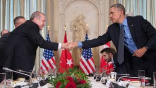 Obama iyo Erdogan oo ku kulmay madasha shirka G20