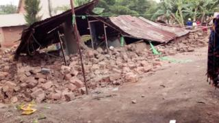 A house in Kigali is pictured after being demolished by authorities in December 2019