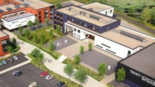 artists' impression of new school
