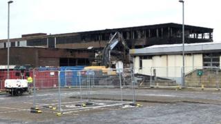 Demolition contractors Pic: Steven Godden