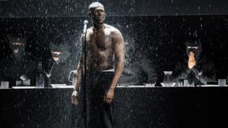 Stormzy on stage at BRITs