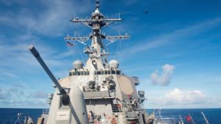 美國海軍多次派出戰艦到南海巡航。