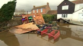 Moorland homes flooded in winter of 2013-14