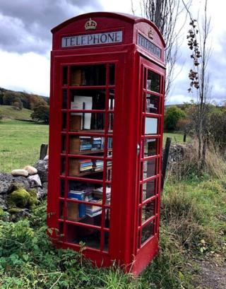 phone box book swap