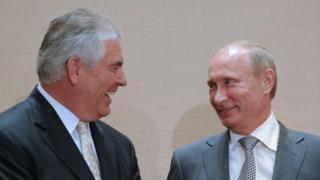 Рекс Тиллерсон, Владимир Путин