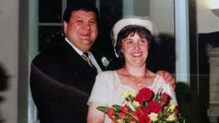 Stephen and Tina Gale on their wedding day
