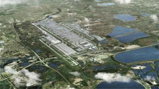 Artist impression of third runway at Heathrow
