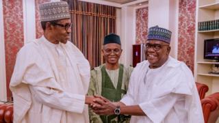 Senator Goje dey shake President Buhari
