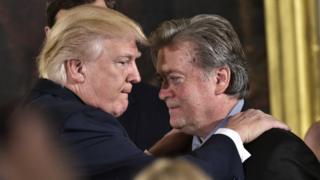 Donald Trump y Stephen Bannon.
