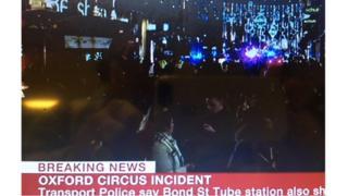 Màn hình BBC News về 'sự cố' chưa rõ nguyên nhân tại trung tâm London