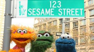 Sesame Street characters in New York