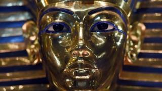Una máscara de Tutankamón