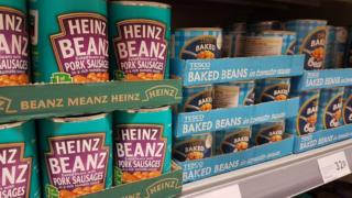 tins of beans