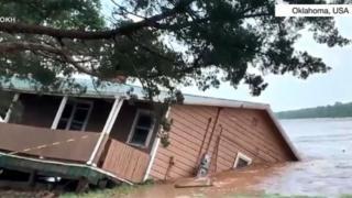 House wey dey sink inside water