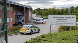Police at Meadowhead School, Sheffield