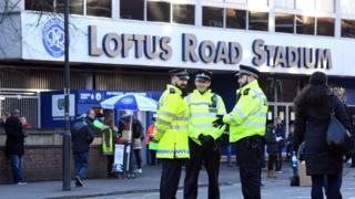 Police outside Loftus Road stadium