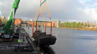barge being removed