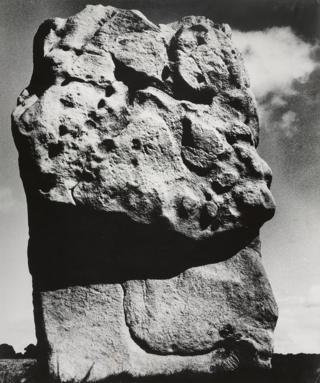 A photograph of a rock at Avebury