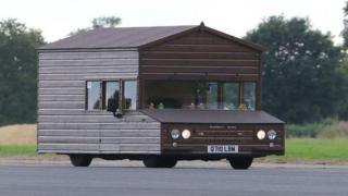Kevin Knicks aimed to beat last year's world record of 88mph in his motorised shed