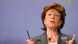 Nellie Kroes at an EU press conference in 2009.