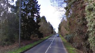 B1145 Gayton Road at Bawsey