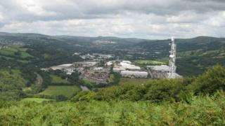 View of Treforest industrial estate
