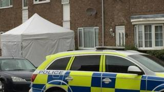 Police tent outside property in Duck Lane