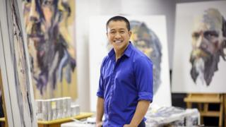 Anh Do at his painting studio in inner Sydney
