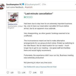 Southampton FC tweet