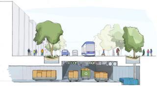 Boceto de Sidewalk Labs