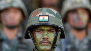 印度和中國軍人
