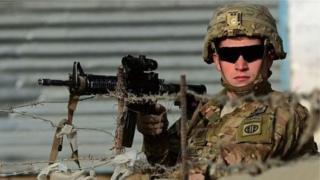 અમેરિકી સૈનિકની તસવીર