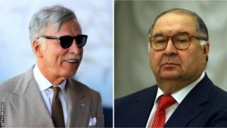 Arsenal majority shareholder Stan Kroenke (left) and Alisher Usmanov