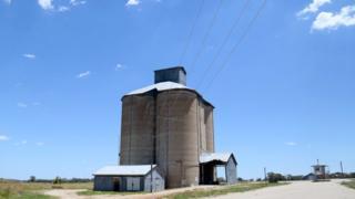 Grain silo in Delungra