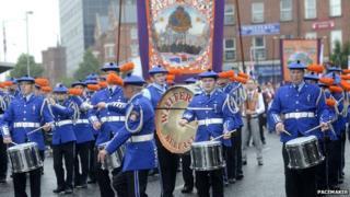 Band at Belfast parade