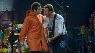 Liam Gallagher and Chris Martin