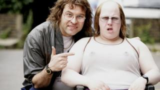 David Walliams as Lou and Matt Lucas as Andy in Little Britain