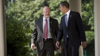 President Obama with Mr Clapper
