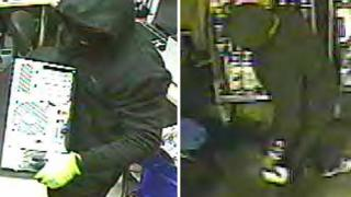 CCTV of the two armed robbers