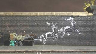 'God bless Birmingham', says Banksy as artwork appears in city