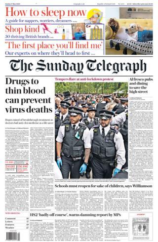 Sunday Telegraph 17 May 2020