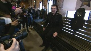 Tony Iommi on the new bench