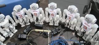 Команда техасского университета на по робофутболу