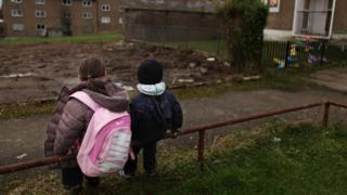 Children in a deprived area