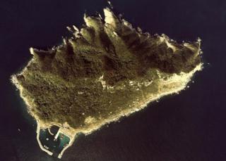 Aerial view of Okinoshima